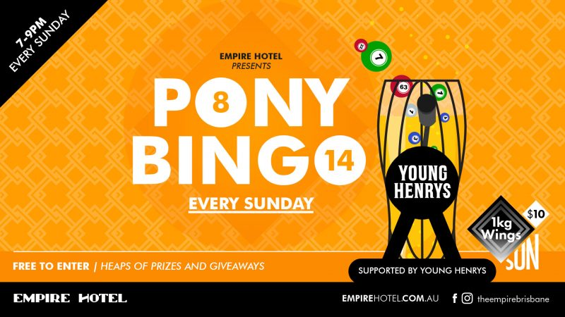 Empire Pony Bingo Artwork
